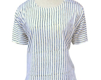Yellow and Blue Striped Organic Cotton Fair Trade Top