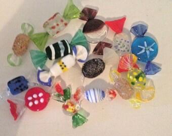 Fake Candy Glass Bon Bons 18 Candies Swirls Stage Props Theatre Halloween Valentine Day Decor