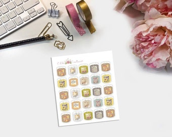 Fall Hand drawn 3-wick Candles planner stickers