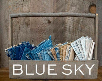 Blue Sky Fabric by Edyita Sitar for Andover  Fat Quarters - 28 Pcs - 100% Quality Quilting Cotton by the FQ Bundle -28 Pcs