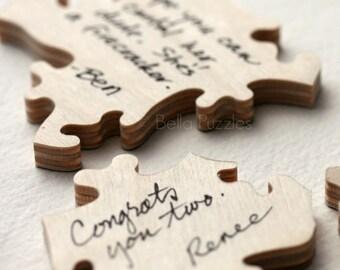 130 pc Wedding Guestbook Puzzle, custom guestbook alternative, WOOD puzzle guest book, Bella Puzzles™, rustic wedding, boho wedding