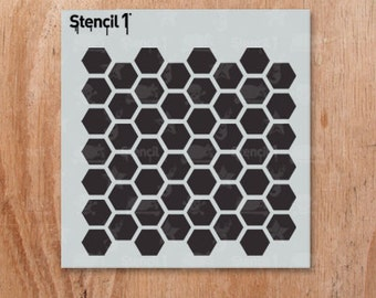 "Hexagon Pattern Stencil- Reusable Crafts & DIY Stencils- S1_PAS_26s -Small-(5.75""x6"")- By Stencil1"