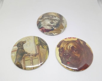 Set of 3 magnets dogs 56mm