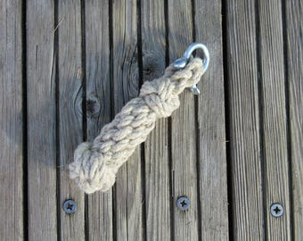Bellrope, Keyring, Light Pull. Sailor knots. Total length 125 mm (5 inch).