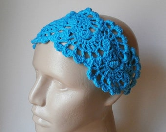 ON SALE 15% OFF Crochet Headband - Lace HeadBand - Women's Hair Accessories - Crochet HairBand in Turquoise