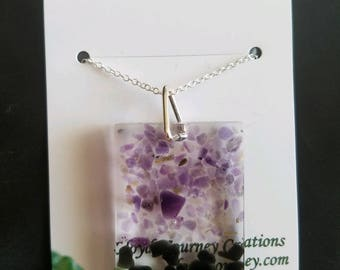 Amethyst and Onyx Pendant