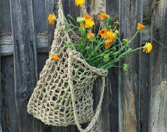HEMP knit bag - tote bag/  shoulder bag/ purse/ handbag, unique, stylish, /organic bag/ hemp bags / vegan bag