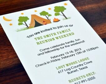Camping Birthday Party Invitations / Camping Party / Boys Birthday Party Invite / Kids Birthday Party Invitation / Camp Party