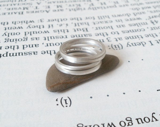 Stacking Ring In Sterling Silver, Everyday Jewelry Handmade In England