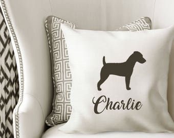 Personalized Jack Russell Terrier Pillow Cover
