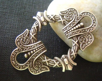 1 PC highly detailed framework in Oxidized sterling silver plated Brass