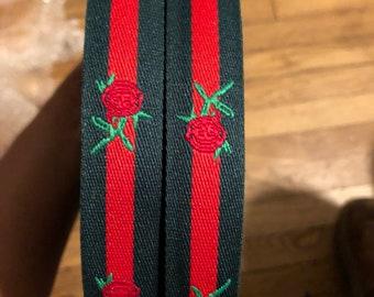 Ribbon webbing tide rose Gucci 7/8.