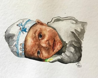 Customise watercolour paintings or charcoal sketches - Made to order