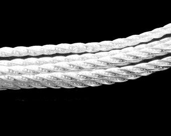 SOLID 925 Sterling Silver Sparkle TWIST Pattern Wire 6-24 Inches 2.03mm Approx Gauge 12 Dead Soft USA Made Jewelry