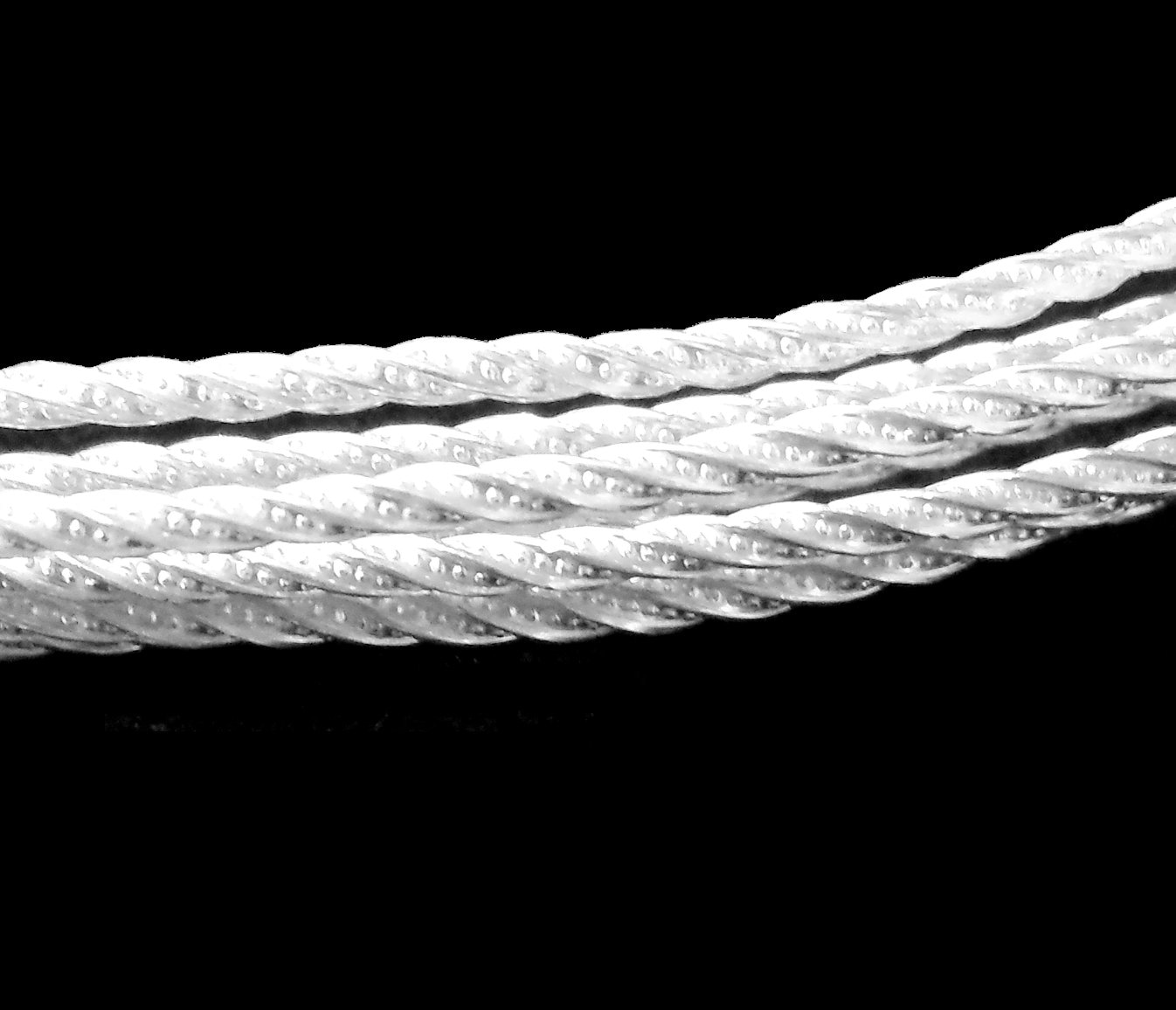 SOLID 925 Sterling Silver Sparkle TWIST Pattern Wire 6-24 Inches ...