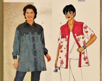 Butterick Pattern 6478 Plus Size Designer Delta Burke Tunic & Skinny Capri or Pants Sz PLUS 22-26 Uncut FF BBW Sewing Patterns Sew Supplies