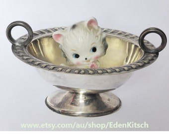 Silverplated Goldcraft Sugar Bowl with Looped Handles ~ A1 EPNS Tableware ~ Rustic ~ 1920s Kitchen Decor ~ Vintage Wedding ~ High Tea