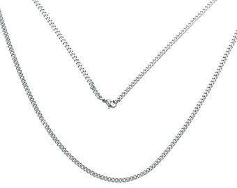 304 stainless steel 61 cm silver color chain