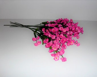 Bouquet filler etsy dark pink silk double babys breath filler flower your choice of 6 or 12 stems mightylinksfo