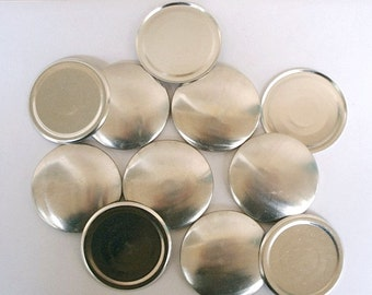 Flat Backs - 12 Cover Buttons Size 75  (1 7/8 inch)