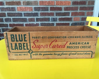 Blue Label Pabst-Ett-Corporation - Chicago, Illinois Cheese Box