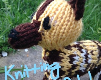 African Painted Dog Knitting Pattern Only