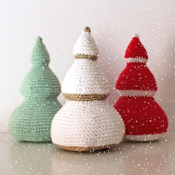 Christmas Trees - Christmas Patterns. Amigurumi Pattern PDF.