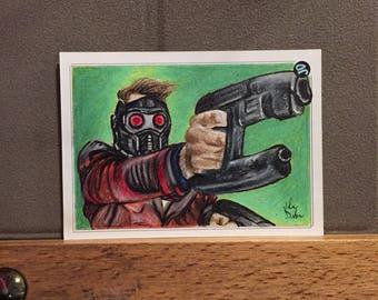 Original Star Lord, Guardians of the Galaxy Vol. 2 Sketch Trading Card - JD Card No. 8