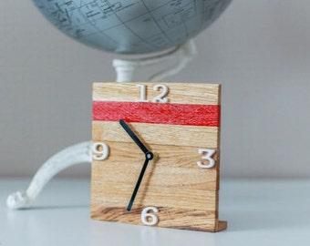Marty. Oak desk clock. Handmade