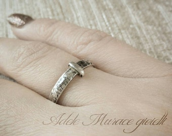 Ring sterling silver 925 * 3 mm anello Scozia matrimonio Highlands