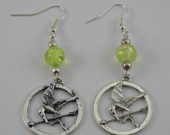 Hunger Games yellow earrings