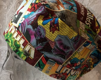 Marvel Comic Surgical Theatre Scrub Hat
