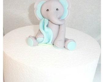 Elephant with Blanket Fondant Topper