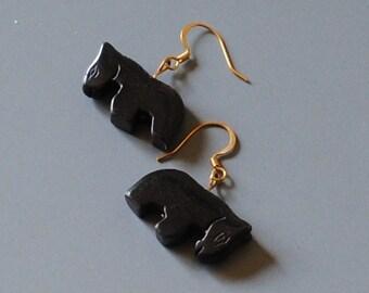blackstone horse earrings