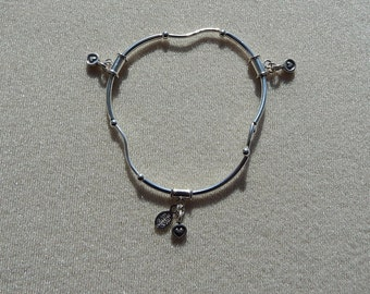Stretch Bracelet - Sterling Silver with Dangles
