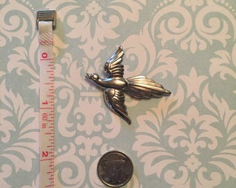 Vintage sterling by Coro bird brooch