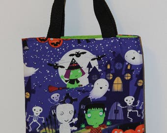 Little Monster Tote Bag, trick or treat bag, Halloween tote