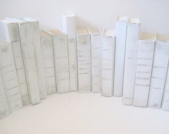 White Wedding Books, Beach Wedding Decor, Summer Wedding, Wedding Decor,  White Painted Books,  Wedding Book Decor, Beach Wedding Books