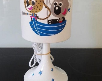 pirate child bedside lamp hand painted