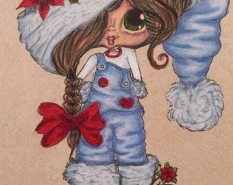 INSTANT DOWNLOAD Digital Digi Stamps Big Eye Big Head Dolls NEW Besties ChristmasremixA My Besties By Sherri Baldy