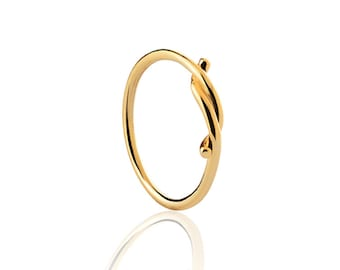 KNOT ring - Gold plated silver ring - Gold ring - Simple gold ring - Minimal jewelry - stacking ring - knot ring