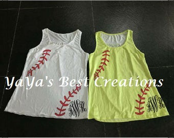 Softball Tank Top Adult Softball tanks Baseball mom Tank top Baseball tank