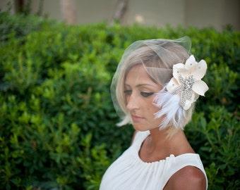 Vintage-inspired birdcage veil