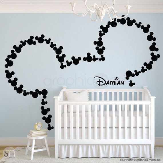 Wall Decals MICKEY MOUSE Inspired Ears U0026 Personalized Baby
