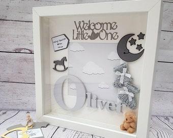 Personalised Baby Frame | Letter Frame | Baby Name | Baby Gift |Christening Gift | Baby Boy | Baby Girl | Keepsake Box | Nursery Decor