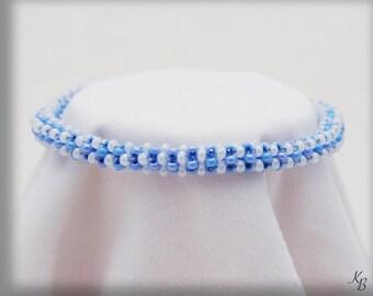 Blue & White Rope Bracelet