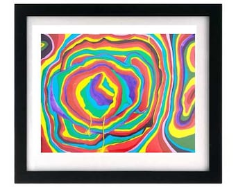 Limited Edition Print, Rainbow Art Colorful Giclee, Abstract Expressionism, Signed Numbered Artwork