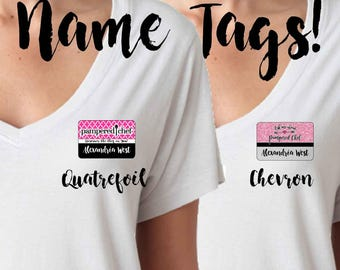 Pampered Chef Name Tag, Glitter Pampered Chef Name Tag, Quatrefoil Pampered Chef Name Tag, Pampered Chef Nametag, Nametag, Name Tag