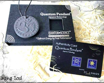 scalar pendant, energy necklace, reiki healing, om necklace, negative ion, quantum necklace, quantum pendant, High Negative Ion, zen, aum