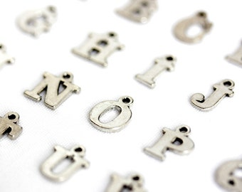 Initial Charm. Block Letter Charm. Alphabet Charm. Add-On Charm for Charm Bracelets. Personalized Charm. Silver Plated Charm.